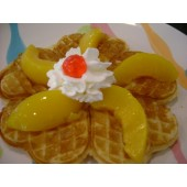 Regular Large Waffle  With Peach