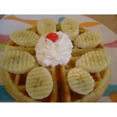 Regular Thick Waffle With Banana