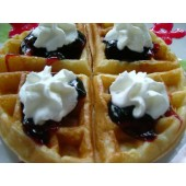 Regular Thick Waffle with Blueberry