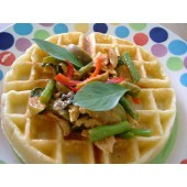 Regular Thick Waffle With Green Curry