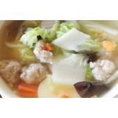 Soup of vegetable and ground pork