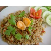Fried rice with shrimp and egg york